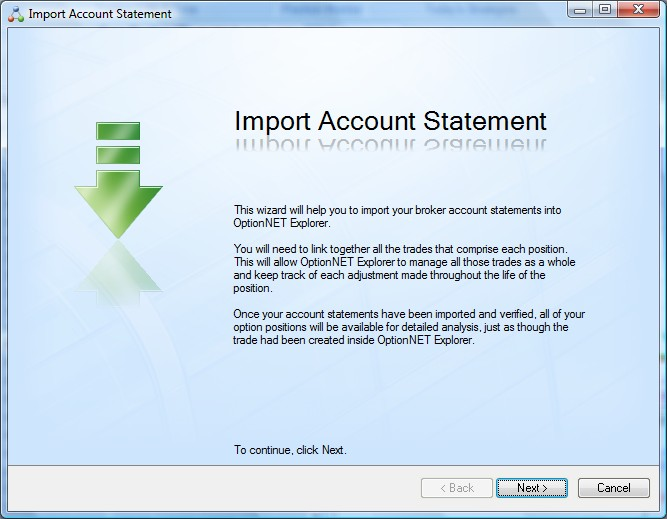 Import Trades from a file