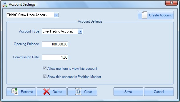 Creating new Account on Account section of Home Ribbon