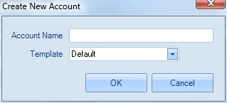 Creating Account in Account section of Home Ribbon