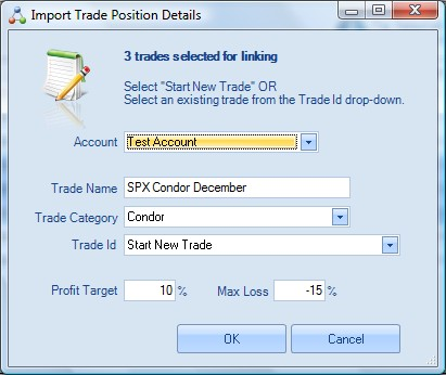Import Trades - Linking Trades into a Position